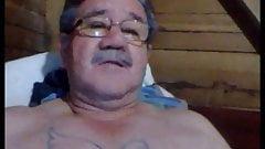 sexy horny grandpa wanking on webcam