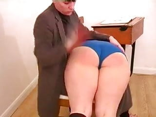 Spanked for Drinking in Class
