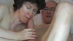 Swallowing Grandpa's Big Cock