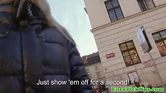 Real public blonde offered cash for sex