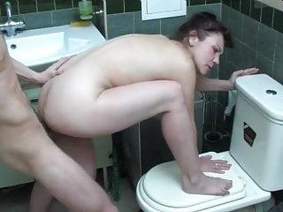 Boy fucked mom in the bathroom