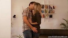 Blonde Lover Makes Her Man Happy