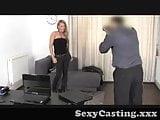 Casting - Inked babe gets fucked hard