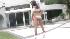 Hot  Little Latin  Brunette  Teen ( Veronique  Vega ) Fucking  On The  Floor  And  Couch .