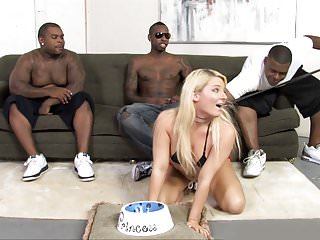 Black Men Treat Casey Cumz Like A Little Dog