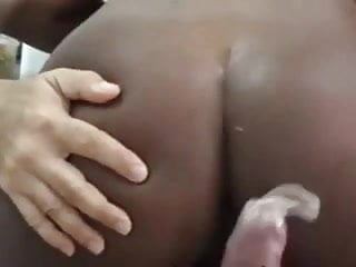Cuckold Black Boy Record Ebony Wife in Anal With White Dick