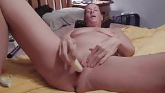 milf plays with bananas and toys.mp4