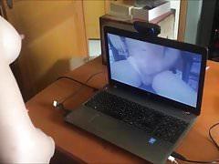 Je fais Ejac un Fan en Webcam