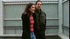 German couple fuck outdoor
