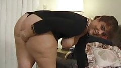 Bbw in pantyhose getting two cocks