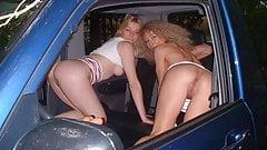 gode entre lesbiennes en voiture et profs-partouze