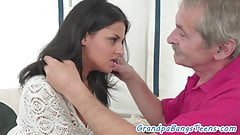 Teen amateur loves getting fucked by grandpa