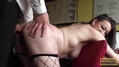English mature whore anally disciplined before tasting cum