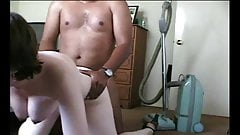 Shy girl fucked at home