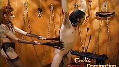 Kinky stallion has his throbbing shaft pleasured by a naught