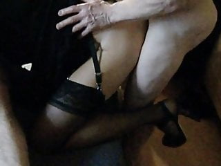Whipped and fucked by 2 guys