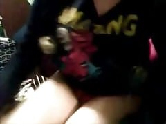Teen shows body and plays with wet pussy