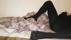 Pantyhose Encasement and Dildo in my little hole...