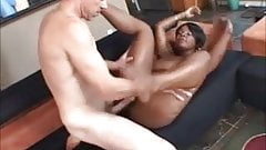 Huge Boobed Black Broad Fucked by White Man