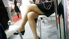 Business woman leg show