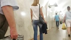 Young sexy blonde with small ass