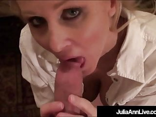 Busty Blonde Milf Julia Ann gets a cock between her big tits