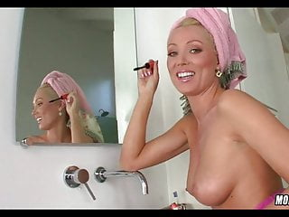 Amazing Blonde MILF gets ready