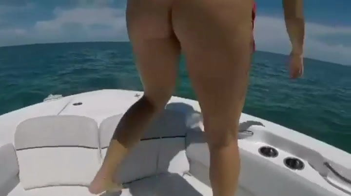 Florida lady on boat