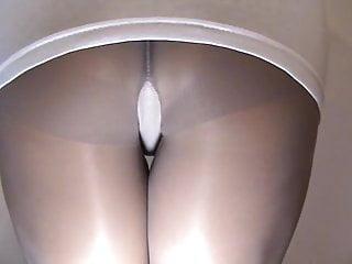 crossdresser in pantyhose spanking your ass 004