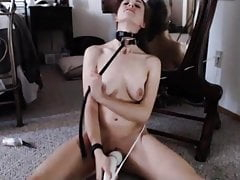 Hitachi and a belt around her neck's Thumb