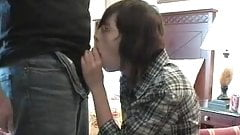Nerdy gril getting fucked by b