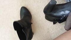 Cum in shoe of friend 2