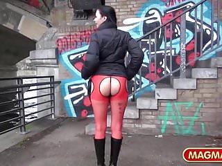 Sexy German Milf in Public