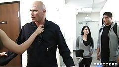 Bad chick Tiffany T fucks the school janitor in front of her