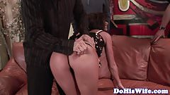 Facialized euro milf fucked on the couch