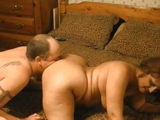 Mature Chubby Wife Tastes Her Own Ass