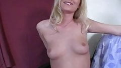 Handjob from sexy amateur blonde wife in hot amateur porn 1