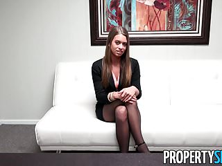 PropertySex - Stunning young real estate agent job interview