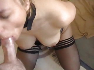 Perfect Blonde in Lingerie Gets Tied Up and Anal Creampied