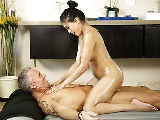 Sexy masseuse Ember Snow