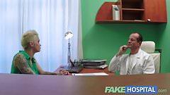 Fake Hospital Flirty tattooed minx demands fast and hard sex