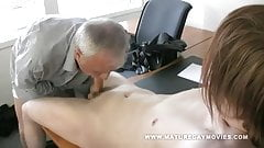 Redheaded Youngster Fuck Daddy In The Office