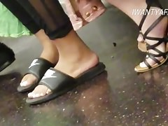 Candid cute indian feet