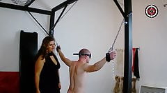 Mistress Lucrecia punishes her slave in chains