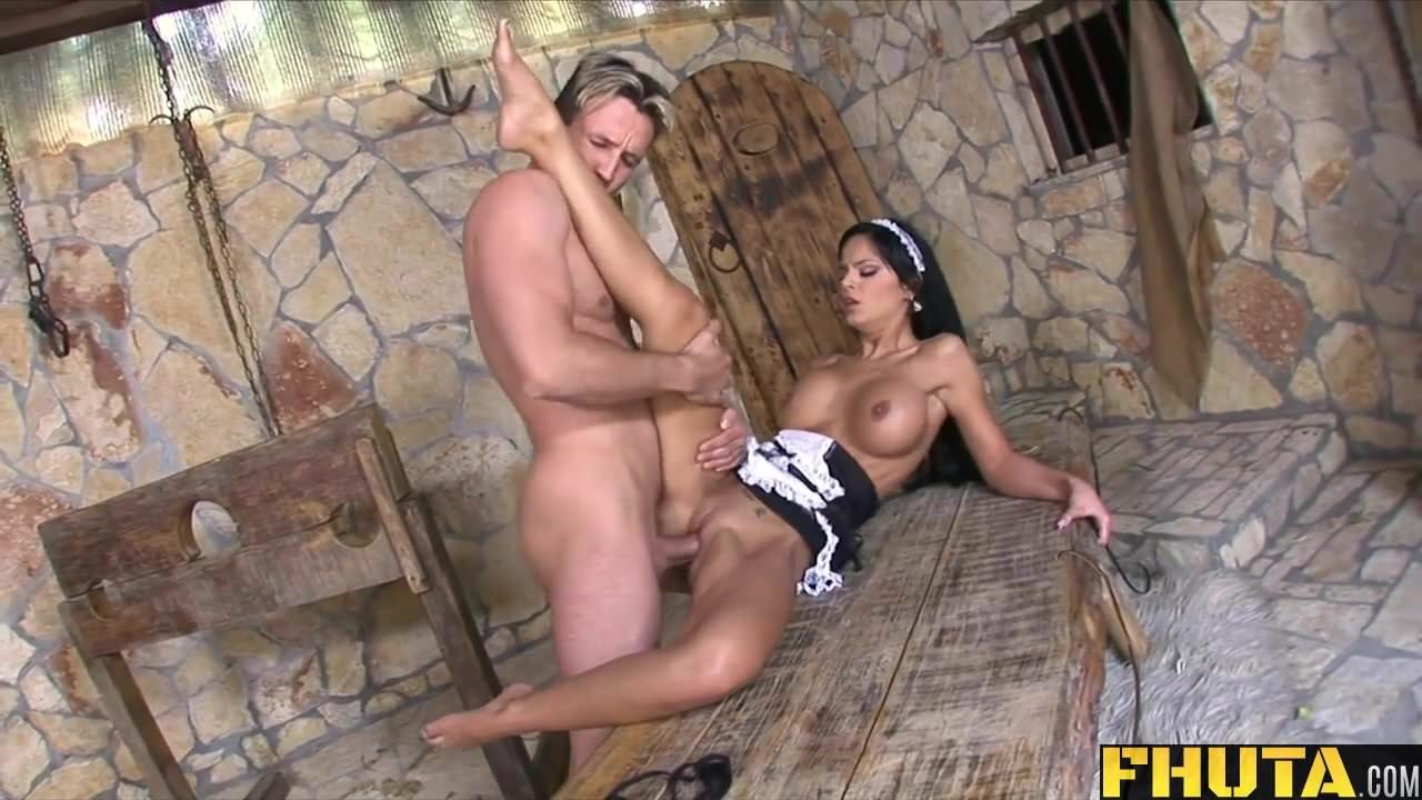 image Fhuta latina maid uses her ass to tame a harsh master
