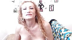 Mature shemale sucks her sun in law then cums alone