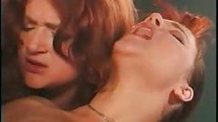 brunette and redhaired girls share a dick