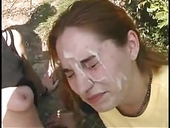 Cum over two young girls outdoor