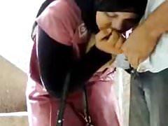Hijab teen with her boyfriend