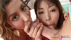 PervCity Asian Teen Blowjob Threesome